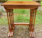 Yew Nest of Three Rectangular Top Coffee Tables